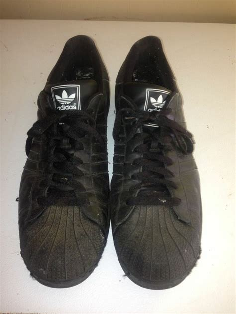 classic school shell top black adidas shoes size 19