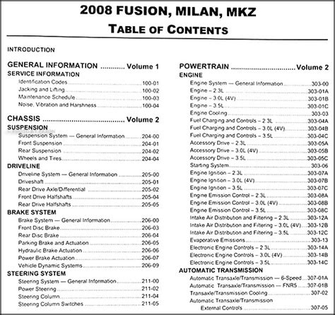 service manual service manuals schematics 2008 ford fusion parking system service manual