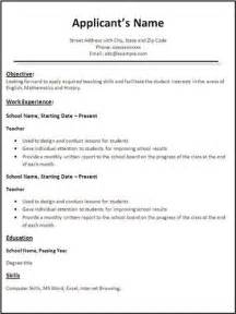 Basic Resume Exles Copy And Paste Copy And Paste Resume Templates Learnhowtoloseweight Net