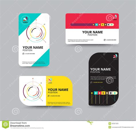 Business Card Template Business Card Layout Design Vector Illu Stock Vector Illustration Of Card Design Template