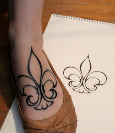 flor de lis tattoo designs my fleur de lis drew the design myself