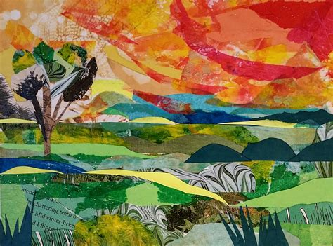 How To Make Paper Collage - a landscape collage