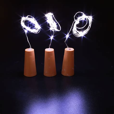 3pcs wine stopper l starry copper wire light string