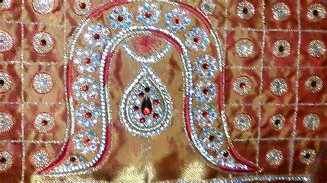 Laksmi Blouse lakshmi maggam work vanki design for bridal blouse