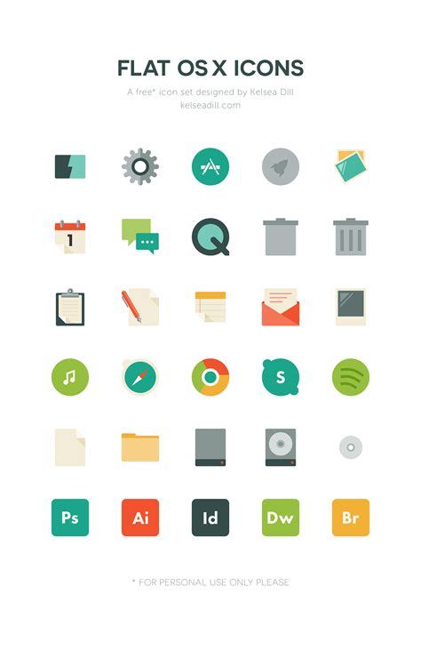 iconic layout jevents download flat os x icons free download on behance