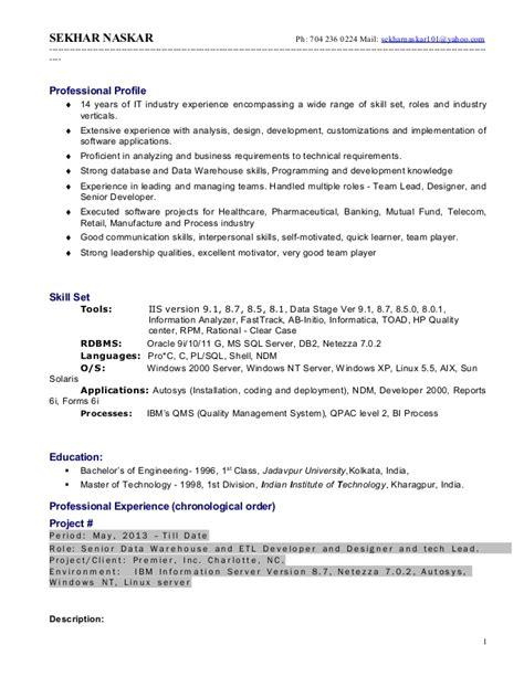 datastage resume resume ideas