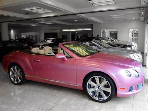 Pink Bentley Continental Gt Convertible Girly Cars For