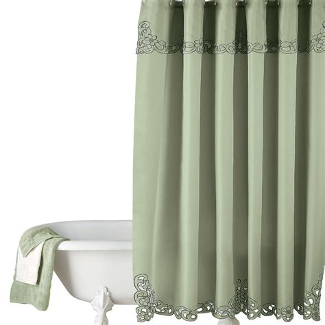 classy shower curtains elegant scroll shower curtain by collections etc ebay