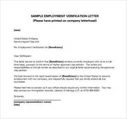 Certification Letter For Immigration Employment Verification Letter 14 Download Free