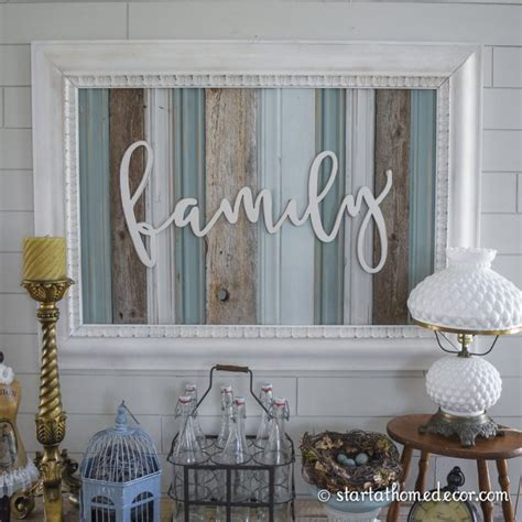 Wood Decorations For Home by Reclaimed Wood Signs Start At Home Decor