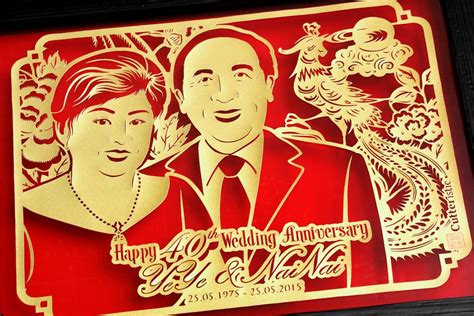Scrapframe Kado Ulang Tahun Anniversary Pernikahan 40 tahun anniversary kakek nenek cutteristic
