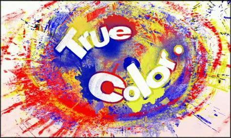 ture colour true color on no