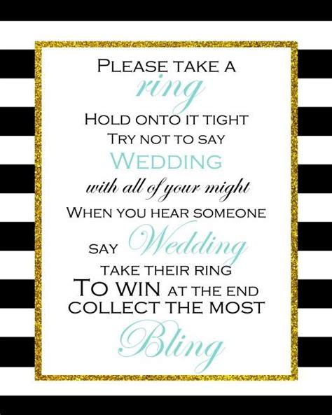 printable bridal shower ring game free printable don t say wedding game bridal shower game