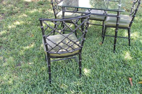 chippendale patio furniture phyllis morris patio set dining chairs and table faux