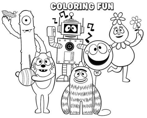 nick jr yo gabba gabba coloring pages free coloring pages of yo gabba gabba brobee
