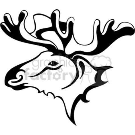 moose tribal tattoo royalty free moose 045 385430 vector clip image