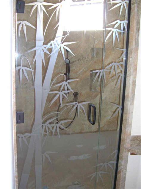 Etched Glass Shower Door Designs Bmbo Frmls Glass Shower Doors Etched Glass Asian Decor