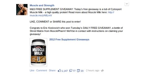 Ms Daily Giveaway - ascending facebook news feeds
