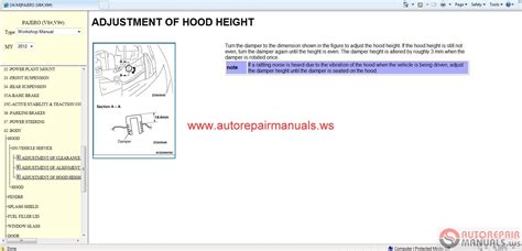motor repair manual 2001 mitsubishi pajero parking system mitsubishi pajero 2012 workshop manual auto repair manual forum heavy equipment forums