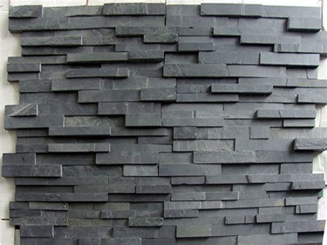 black slate natural stone wall cladding slate tiles ksw quotes