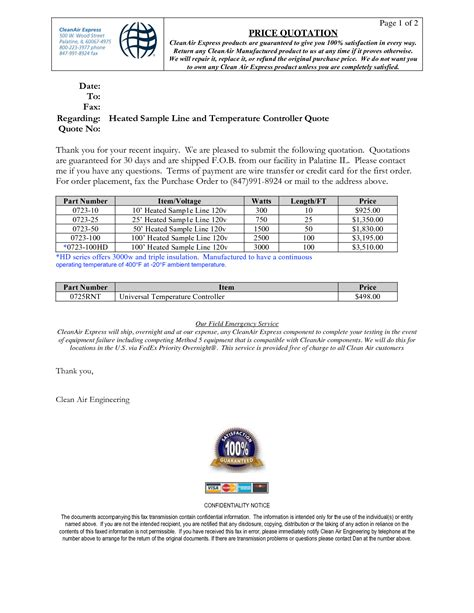 sle price and quotation letter best photos of business quotation format exles