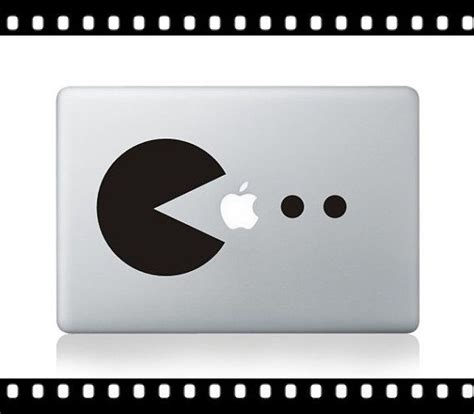 Sticker Macbook Pro Retina Air 13 Pacman Apple Mx001 1000 images about decorate your macbook on