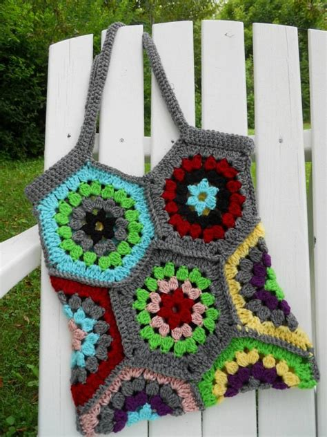 crochet pattern for boho bag boho bag crochet hex pattern hooked on crochet pinterest