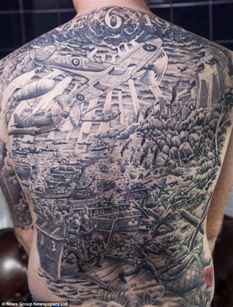 british army tattoos designs war buff has of d day including tanks and a