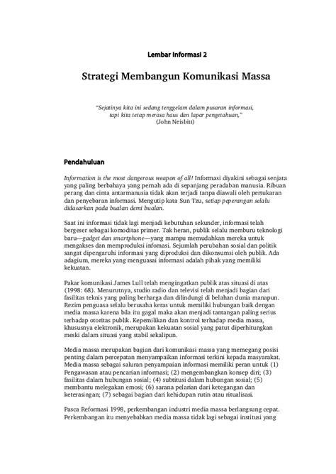 Komunikasi Massa strategi komunikasi massa