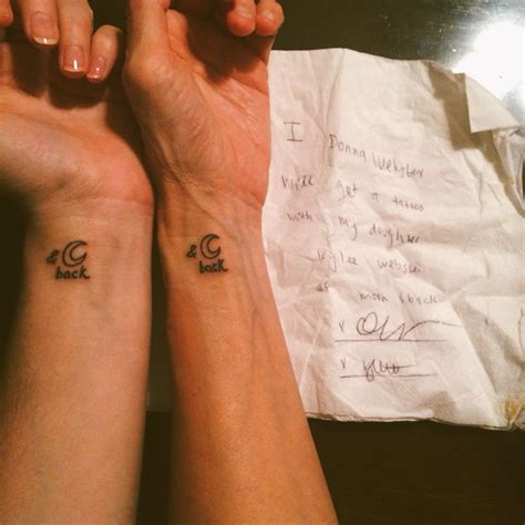 tattoo love you to the moon and back matching mother daughter tattoos quot i love you to the moon