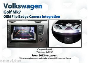 volkswagen vw golf mk camera backup reverse flip badge reversing ebay