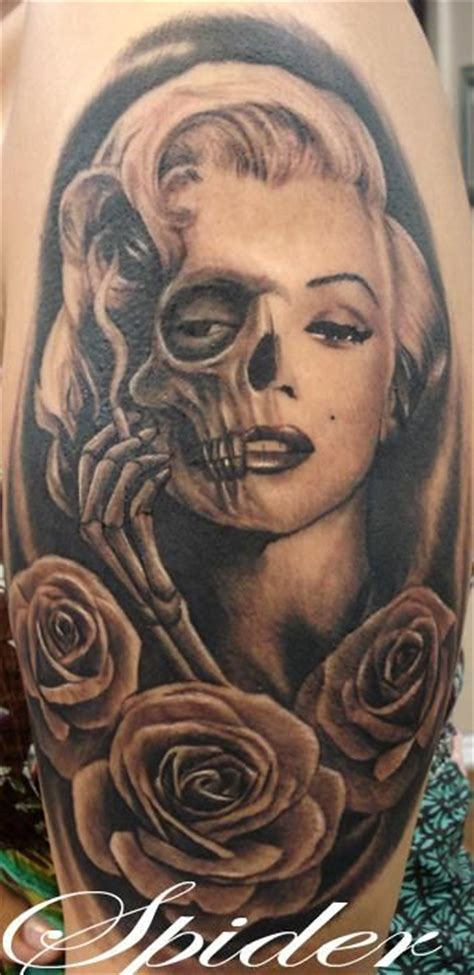 marilyn monroe day of the dead tattoo marilyn day of the dead tattoos