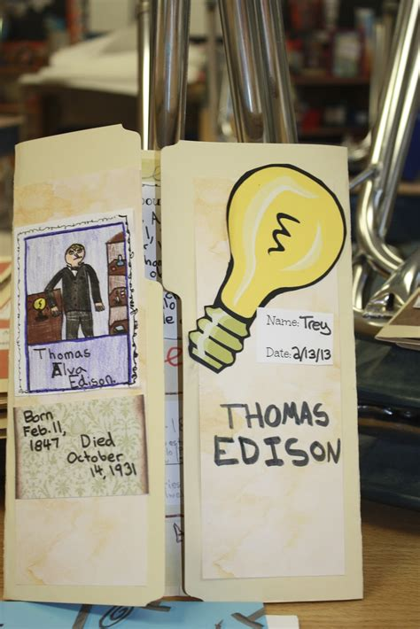 File Folder Biography Book Report by Fabulous In Fifth Watt S Up Edison