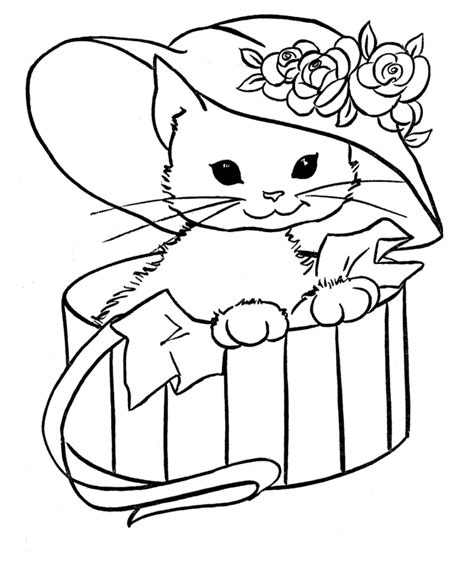 printable coloring pages cat in the hat free printable cat coloring pages for kids
