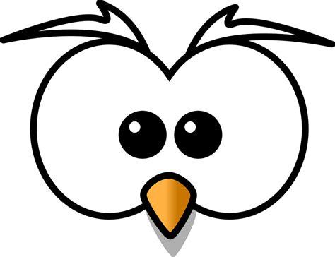 printable owl eyes owl hoot head 183 free vector graphic on pixabay