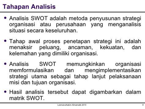 analisis swot untuk penyusunan strategi upload share pertemuan ketujuh analisis swot ttm
