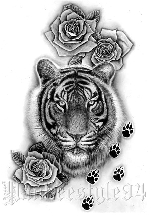 tiger paw tattoo tiger by yankeestyle94 on deviantart