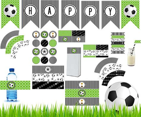free printable soccer party decorations soccer party printable kit complete soccer party diy