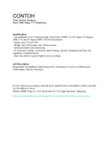 Contoh Application Letter For Hotel Contoh Application Letter Curriculum Vitae Bahasa Inggris Lamaran K