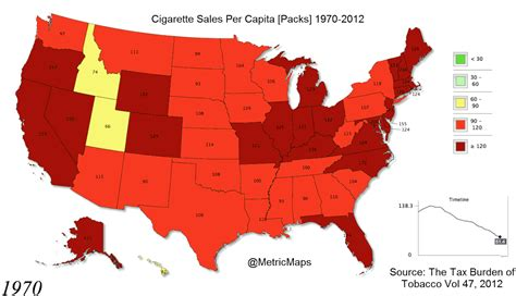 usa map by year how the us stubbed out their cigarettes map