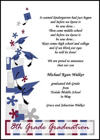 Best 25 8th Grade Graduation Ideas On Pinterest Grad Parties Trunk Party And Graduation Ideas Middle School Graduation Program Template