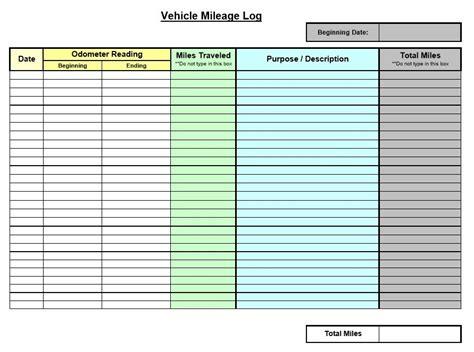 8 free sle mileage log templates printable sles