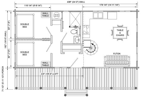cabin layout plans prairie kraft specialties log cabin manucturing log cabin 16 x34