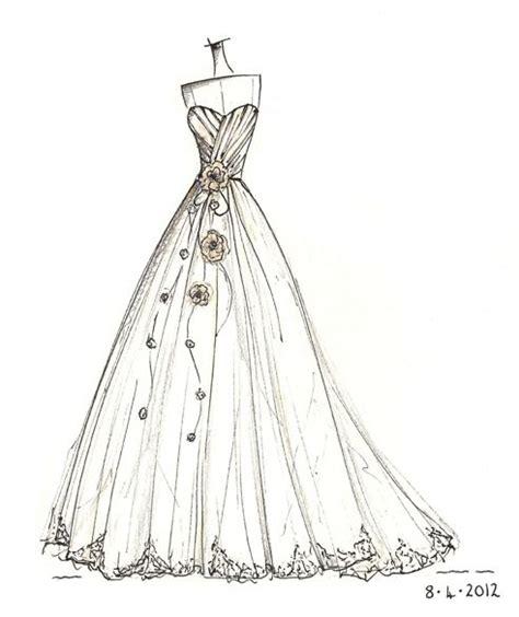 Brautkleider Zeichnen Lernen by Wedding Dress Sketch Wedding Dress Sketches