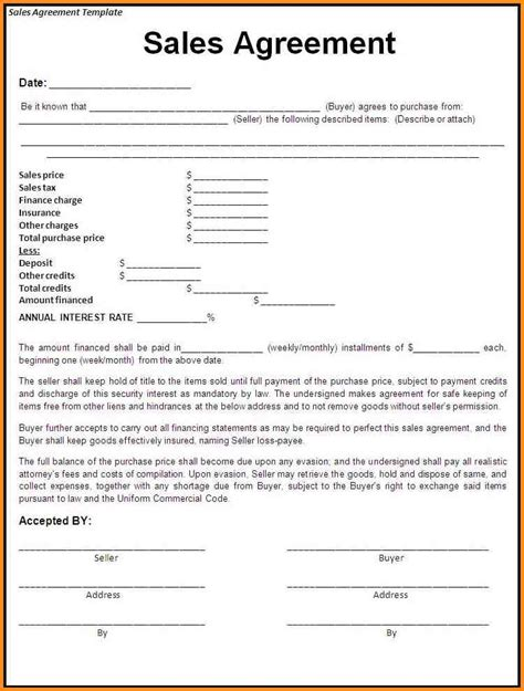 Effective Purchase Contract or Purchase Agreement Template Sample : Vatansun