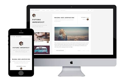 escapevelocity free html5 template html5xcss3 futureimperfect free html5 template html5xcss3