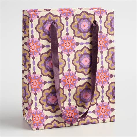 Handmade Paper Bag - small jaipur handmade paper gift bag world market
