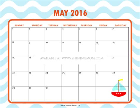 printable planner may 2016 12 free printable calendars for may 2016
