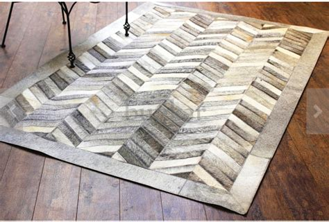 chevron leather rug grey chevron cowhide leather rug anima and amare
