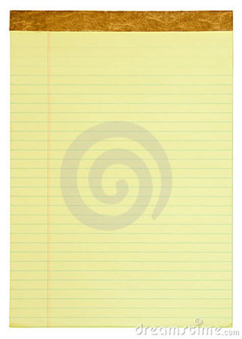 yellow lined legal pad royalty free stock photos image